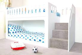 white bunk bed with stairs. Twin Bunk Bed With Stairs Over Beds  . White U