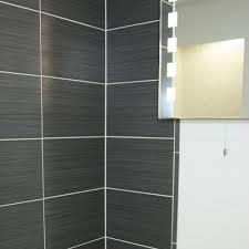 Tiles Bathroom Uk Tulda Black Glazed Ceramic Wall Tile 40x25cm From The Ceramic