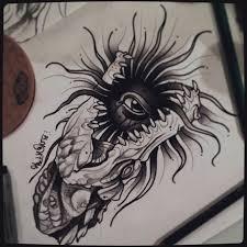 оригинальный универсальный эскиз тату черно белые 400