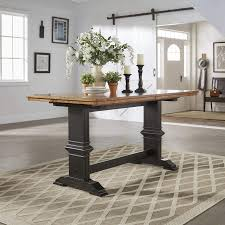 Eleanor Solid Wood Counter Height Trestle Base Dining Table from iNSPIRE Q  Classic - Free Shipping Today - Overstock.com - 24171278