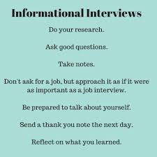 thank you informational interview informational interviews learn from others about a job or career