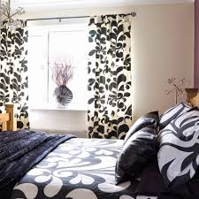 Red Black And White Bedroom Black And White Curtains Bedroom