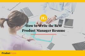 Artist Manager Resume Job Description How To Write The Best Product Manager Resume Product Gym