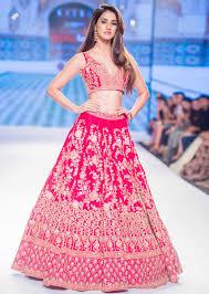 Kalki Lehenga Designs Disha Patani In Kalki Mesmerising Pink Raw Silk Lehenga Set In Multi Color Resham Ari And Zardosi Embroidery