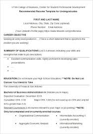 Resume Templates Examples Free Resume Template Download 10 College Resume Template Sample