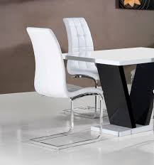dinign room white faux leather dining chair leggings