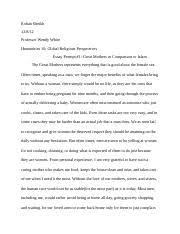rite of passage essay rohan sheikh professor wendy white  3 pages rite of passage essay 3