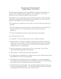 Research Paper Outline Template        Free Word  Excel  PDF Format     Research paper  th grade template
