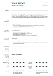 Freelance Web Developer Resume Samples Templates Visualcv