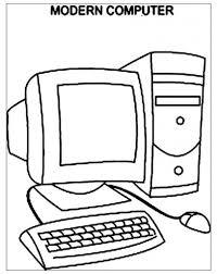 Computer Per Computer Moderno Bambini Colorare Colorare Sole Online