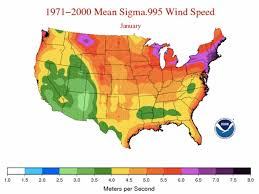 Average Wind Speeds Map Viewer Noaa Climate Gov