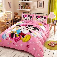 dazzling mickey minnie birthday gift bedding set 1