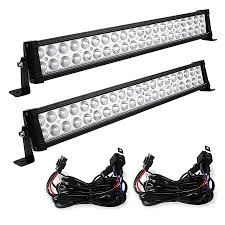 24 Inch Light Bar With Wiring Harness 24 Inch Flood Combo Offroad Led Light Bar 2pcs With Wiring Harness