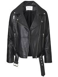 machine leather jacket oversized xs only black uni machine black goat