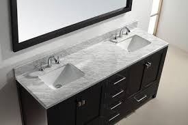 Abodo 72 Inch Transitional Bathroom Vanity White Finish SetVanity Tops With Double Sink