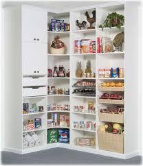 kitchen exciting small kitchen storage ideas with corner storage in white finish on gray flooring
