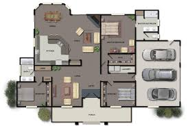 ... Home Decor, Modern Home Blueprints Single Story Modern House Plans  Luxury House Floor Plan With ...