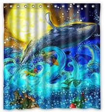artistic shower curtains. Delighful Shower Artistic Sun Whale Shower Curtain To Curtains