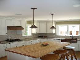 small kitchen island butcher block. Contemporary Small Industrial Pendant Lighting Over Small Kitchen Island With Seating And Butcher  Block Counter Top A I