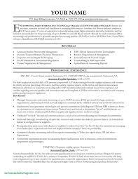 Sample Of Accounts Payable Resume Resume Sample for Accounts Payable Manager Unique 60 Accounts 1