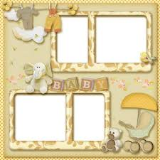 baby collage frame baby photo frame collage for 4 pictures transparent png frame