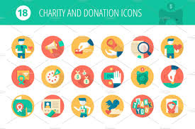 Charity And Donation Flat Icons Icons Creative Market