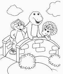 Small Picture Pictures Barney Coloring Pages 73 For Your Free Coloring Kids with