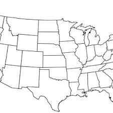 Blank Us Map With Capitals Printable United States Map Blank With