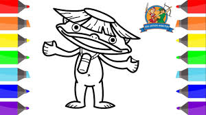 Free download 29 best quality yo kai watch coloring pages at getdrawings. How To Draw Walkappa For Kids Coloring Pages For Kids Yo Kai Watch Walkappa Kids Cartoon Animation Youtube