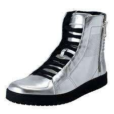 gucci high tops. gucci men\u0027s silver leather high top tops
