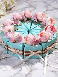Cake Design Shopping Online 10pcs Sugar Boxes Creative Stylish Cake Design Flower Wedding Candy Cases