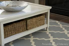Coffee Tables With Basket Storage Wicker Basket Under Coffee Table Coffee Addicts