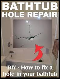 fix hole in bathtub
