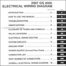 2007 lexus gs 450h wiring diagram manual original