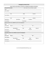 Emergency Contact Forms For Children Babysitting Emergency Contact Form Tirevi Fontanacountryinn Com