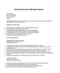 Operations Supervisor Resumes Bank Manager Samples Thekindlecrew Com