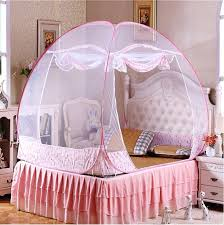Canopy For Girl Room 1 Pink Princess Canopy Bed With Mosquito Diy ...