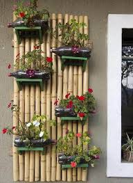 recycled plastic bottles external wall decoration