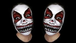 scary clown makeup tutorial
