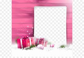 Pink Christmas Card Christmas Card Gift Greeting Card Pink Christmas Border Png