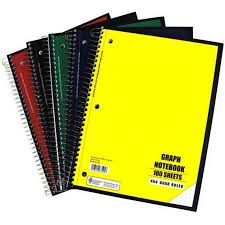Graph Ruled Notebook 100 Sheet Walmart Com
