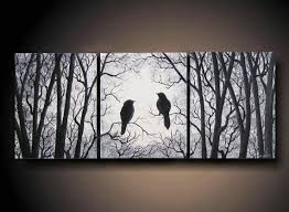 3 piece set wall art birds on tree three 24 x 10 by artbysimplyme 95 00 on wall art pieces with 161 best dipticos tripticos y polipticos images on pinterest