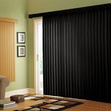 image of black sliding glass door blinds