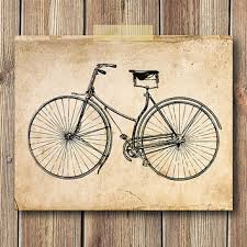 >best vintage bicycle wall decor products on wanelo vintage bicycle illustration art print 8x10 print wall art ho