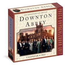 downton abbey 2017 desk calendar