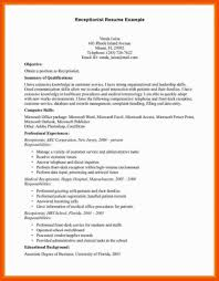 5 6 Front Desk Receptionist Resume Sample Formatmemo Hotel