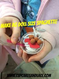 diy american girl doll play food craft spaghetti and meat
