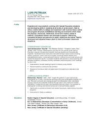 Resumes For Teachers Resume Bank