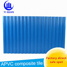 wave pattern sound proof pvc roof tiles blue corrugated plastic roofing from wholers