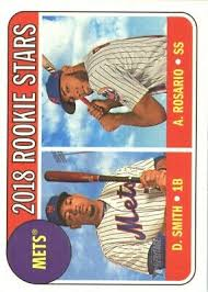 2018 Topps Heritage #31 Dominic Smith RC Amed Rosario RC (BUY 10 FREE S/H)    eBay